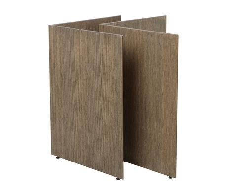 Ferm Living Tafelpoten Mingle W68 donker gebeitst bruin hout 78,7x44,4x71,6cm