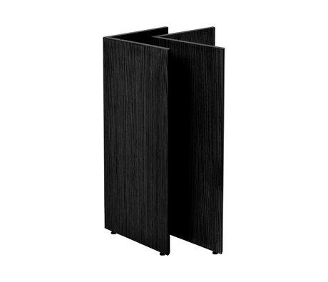Ferm Living Tischbeine Mingle W68 aus schwarzem Holz 78,7 x 44,4 x 71,6 cm