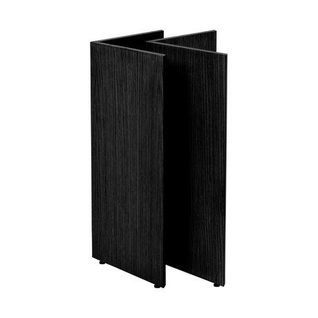 Ferm Living Pieds de table Mingle W68 bois noir 78,7 x 44,4 x 71,6 cm
