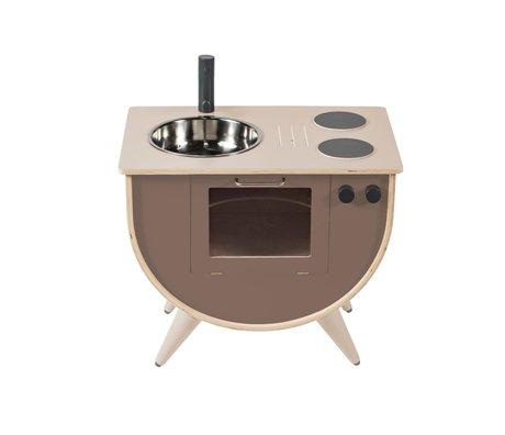 Sebra Spielküche warmes graues Holz 58x38x50cm