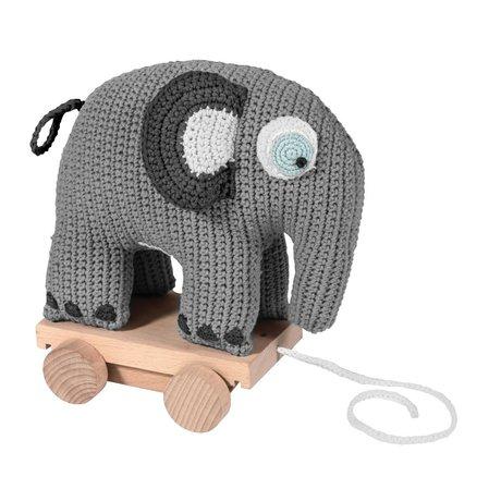 Sebra Animal de trait Fanto coton gris 24x13x25cm