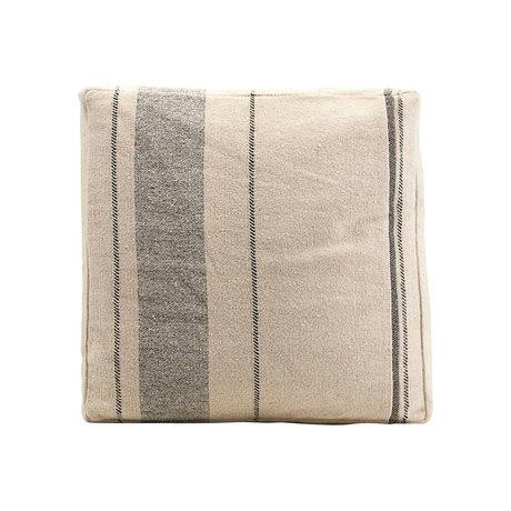 Housedoctor Housse de coussin en coton beige Maroc 45x45x6cm