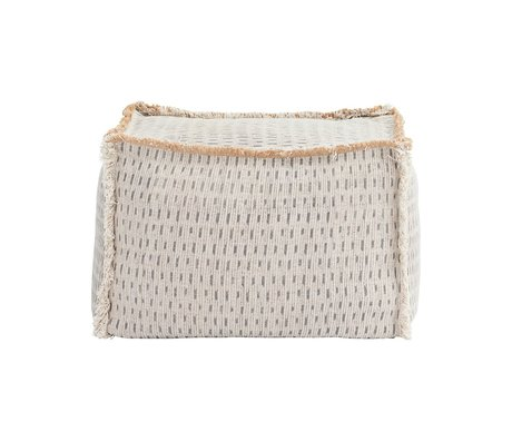 Housedoctor Pouf Abi ivory water repellent beige 55x55x40cm