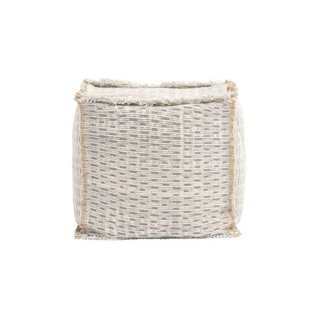 Housedoctor Pouf Abi ivory water repellent beige 40x40x40 cm
