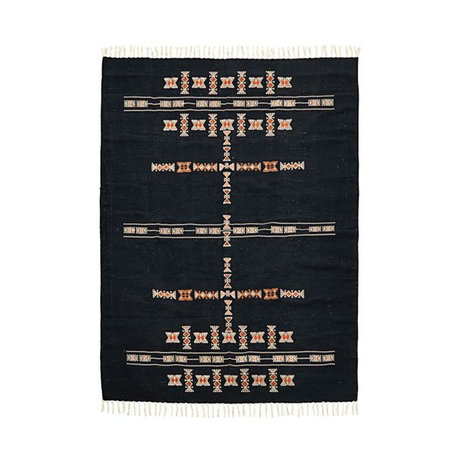 Housedoctor Rug Mila black textile 200x140cm