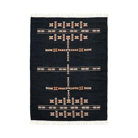 Housedoctor Vloerkleed Mila zwart textiel 200x140cm