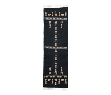 Housedoctor Rug Mila black textile 240x70cm