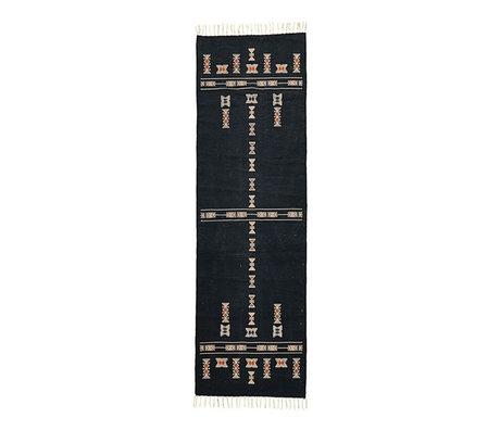 Housedoctor Teppich Mila schwarz Textil 240x70cm