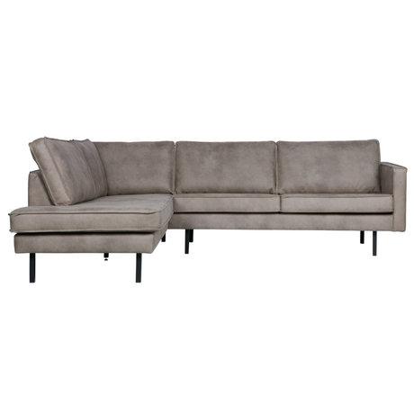 BePureHome Corner sofa Rodeo left elephant skin leather 266x88 / 213x85cm