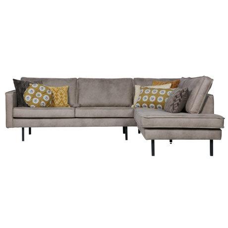BePureHome Corner sofa Rodeo right elephant skin leather 266x88 / 213x85cm