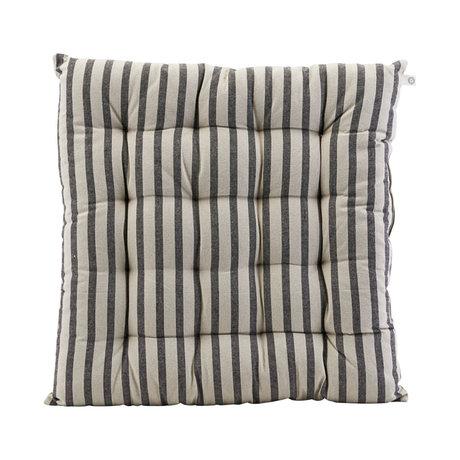 Housedoctor Stoelkussen Striped zwart grijs katoen 50x50cm