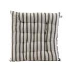 Housedoctor Coussin de chaise Coton rayé noir gris 35x35cm