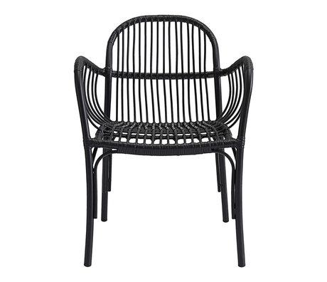 Housedoctor Stuhl (Garten) Brea schwarz PE Aluminium 71x5x61x69cm