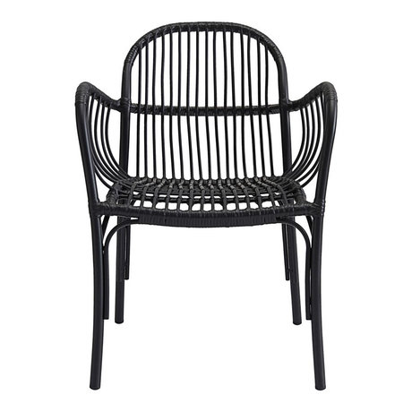 Housedoctor Chaise de jardin Brea noir PE Aluminium 71x5x61x69cm