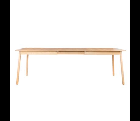 Zuiver Table à manger Glimps extensible brun naturel 180 / 240x90x76cm