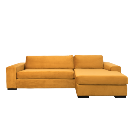 Zuiver Canapé d'angle Fiep droit jaune ocre 275x152 / 97x80cm