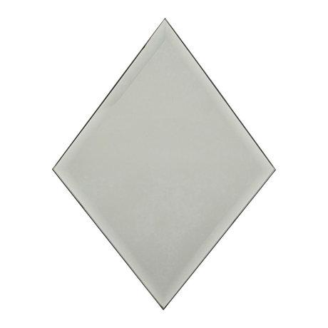 Housedoctor Mirror Diamond gray glass 16x22cm