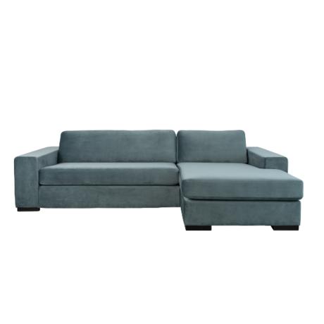 Zuiver Corner sofa Fiep right petrol blue 275x152 / 97x80cm