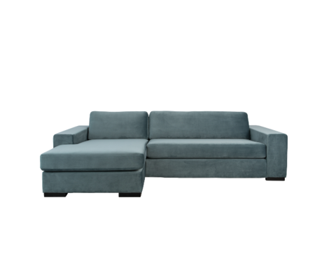 Zuiver Corner sofa Fiep left petrol blue 275x152 / 97x80cm