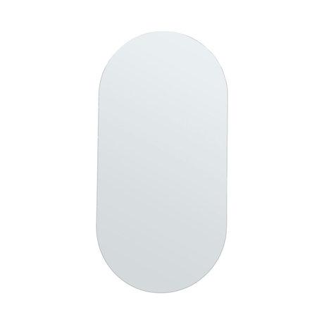 Housedoctor Miroir Murs Ovale Verre 35x70cm