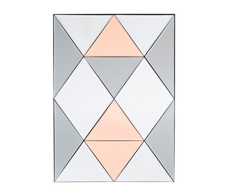 Housedoctor Mirror Rhomb multicolour glass 50x70cm