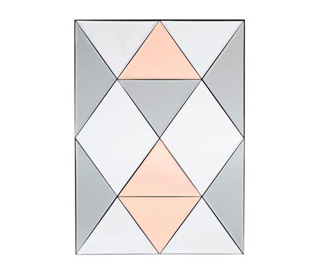 Housedoctor Spiegel Rhomb Mehrfarbenglas 50x70cm