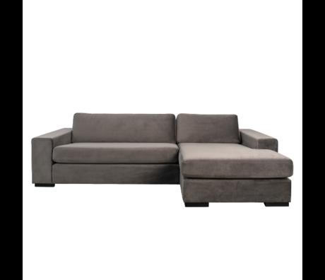 Zuiver Hoekbank Fiep rechts grijs 275x152/97x80cm