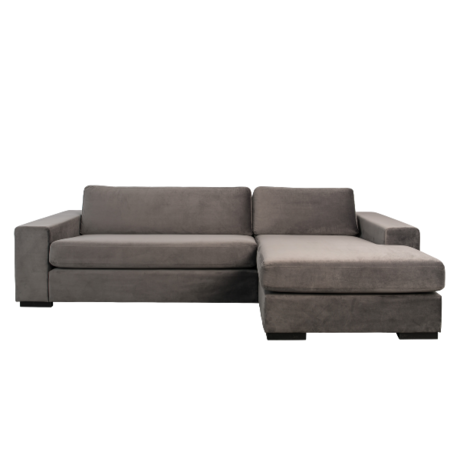 Zuiver Corner sofa Fiep right gray 275x152 / 97x80cm