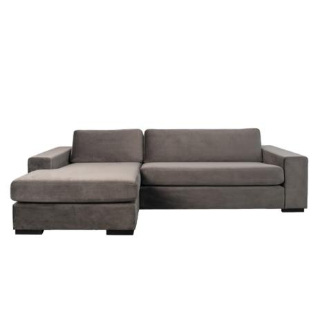 Zuiver Corner sofa Fiep left gray 275x152 / 97x80cm