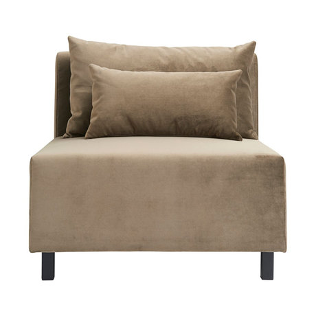Housedoctor Bank sofa element zand bruin middle 85x85x77cm