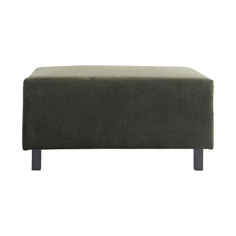 Housedoctor Hocker sofa element green 85x60x44cm