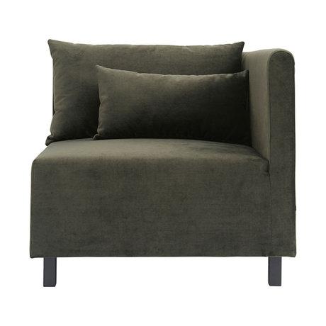 Housedoctor Sofa sofa element green corner 85x85x77cm