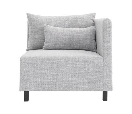 Housedoctor Sofa sofa element light gray corner 85x85x77cm
