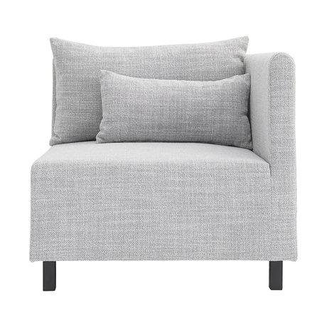 Housedoctor Sofa Sofa Element hellgrau Ecke 85x85x77cm