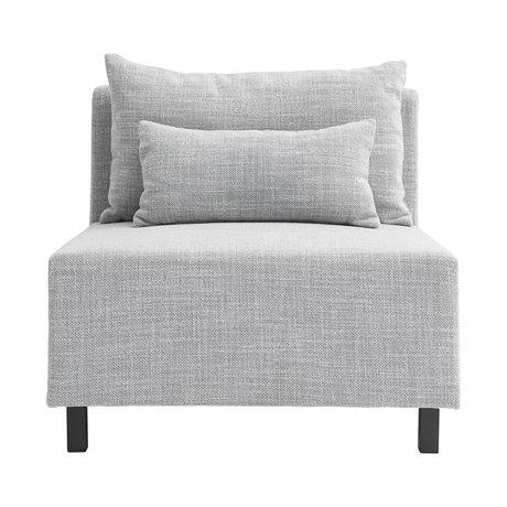 Housedoctor Elément de canapé gris clair moyen 85x85x77cm