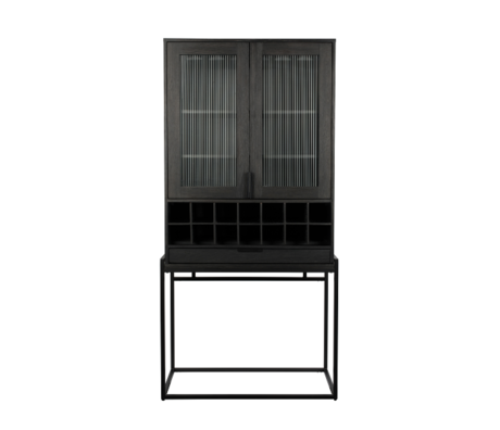 Zuiver Wine cabinet Travis black oak wood 88.5x46.5x180.5 cm