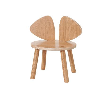 NOFRED Chaise enfant en bois de chêne verni souris 42.5x28x45.9cm