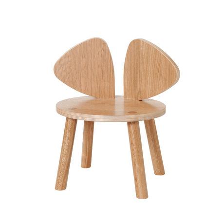 NOFRED Peuterstoel Mouse gelakt eiken hout 42,5x28x45,9cm