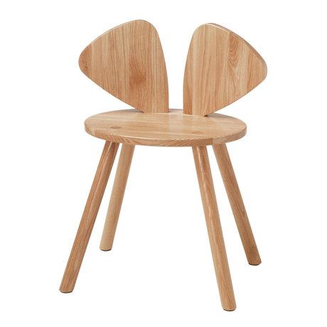NOFRED Chaise haute Mouse en bois de chêne verni 48.7x32.8x64.3cm