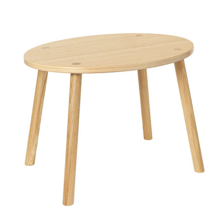 NOFRED Table enfant en bas âge Souris en bois de chêne vernis 54x39x43.7cm
