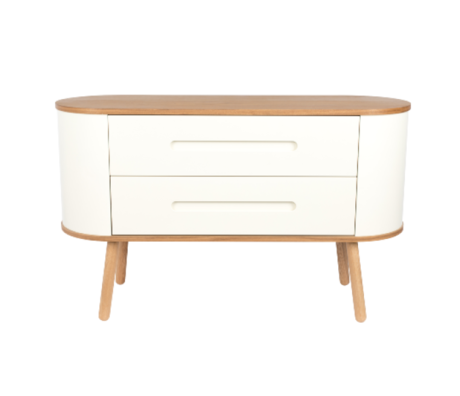 Zuiver Cabinet Cody 2 drawers brown white 120x40x73cm