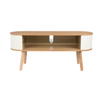 Zuiver Table d'appoint Cody Brun Blanc 120x40x53cm