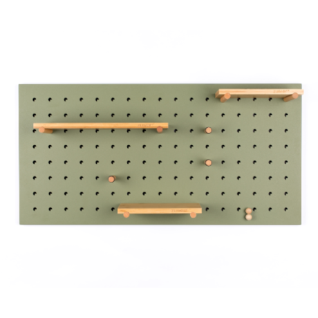Zuiver Pegboard Bundy groen ijzer 90x2x45cm