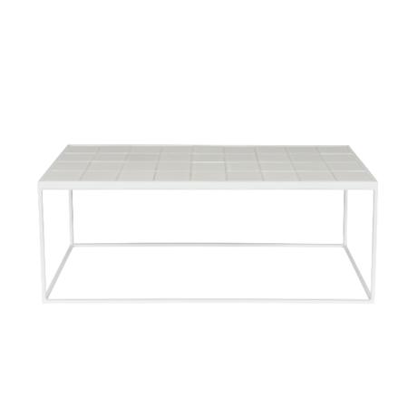 Zuiver Table basse blanche vitrée 93x43x36cm