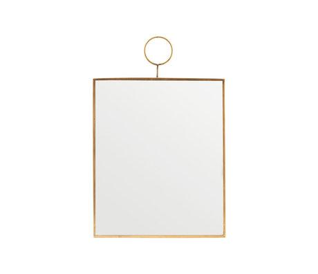Housedoctor Spiegel Loop brass glas 25x30cm