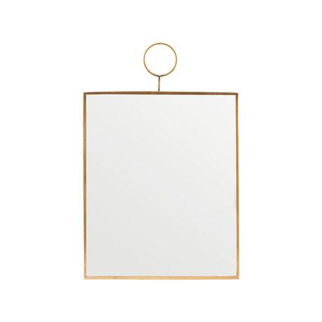 Housedoctor Boucle miroir en laiton verre 25x30cm