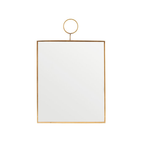 Housedoctor Mirror Loop brass glass 25x30cm