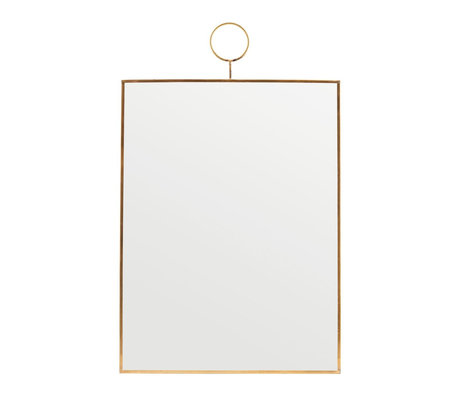 Housedoctor Mirror Loop brass glass 30x40cm