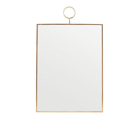 Housedoctor Spiegelschleife aus Messingglas 30x40cm