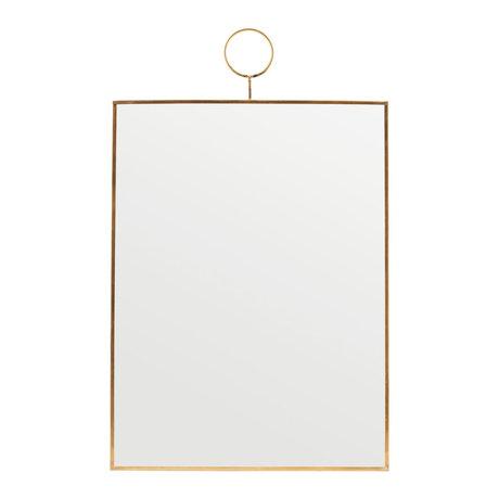 Housedoctor Boucle de miroir verre laiton 30x40cm